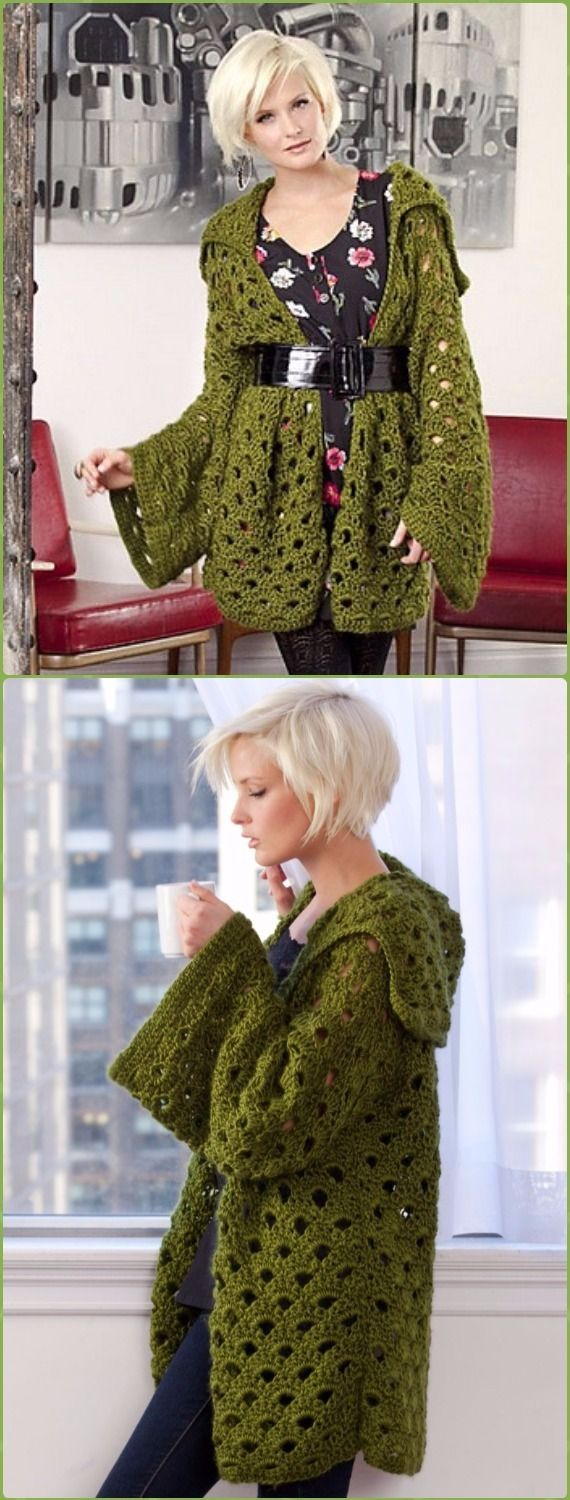 Crochet Penny Arcade Cardigan Free Pattern - Crochet Women Sweater Coat & Cardigan Free Patterns