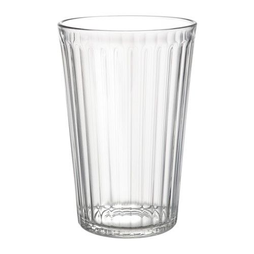 VARDAGEN Glass IKEA Also suitable for hot drinks. Made of tempered glass, which makes the glass durable and extra resistant to impact.