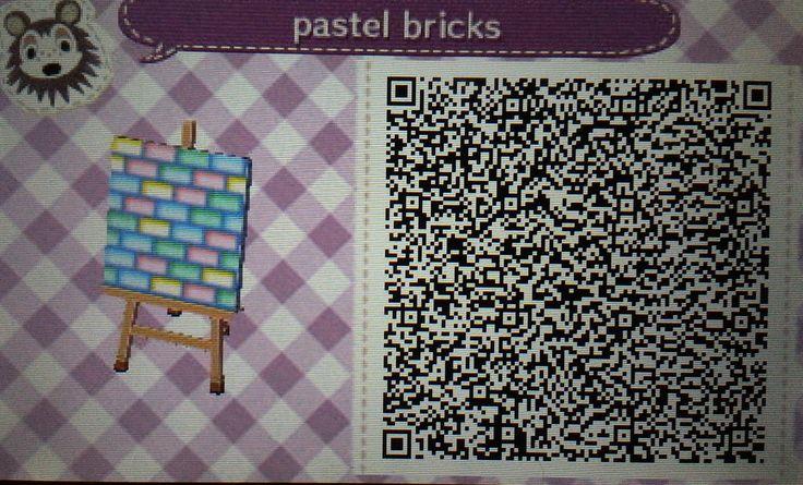 Animal Crossing New Leaf Wallpaper Qr Pastel Bricks Qr Code Animalcrossing Acnl Abigail S