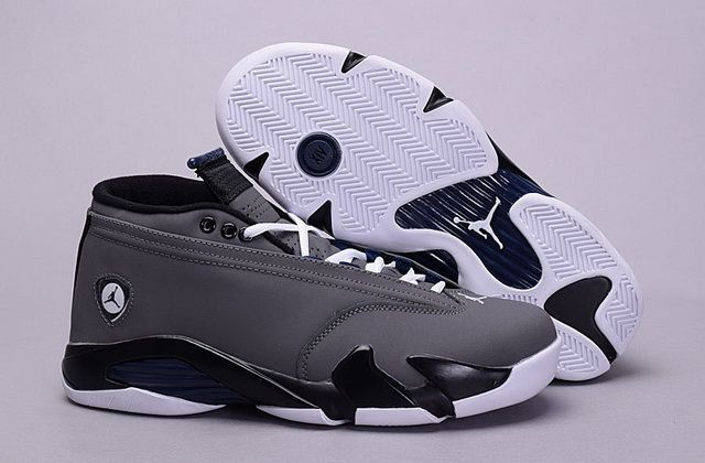 sale retailer 33791 207bb Factory Authentic Air Jordan XIV 14 Wolf Grey White Black Discount Sale