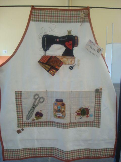 delantal máquina de coser