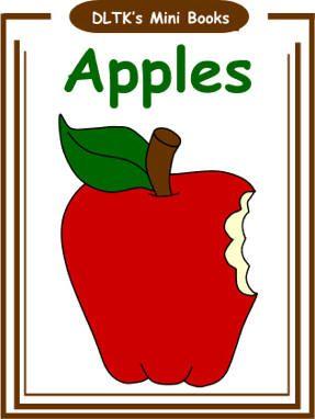 apples mini book apple activitiesnutrition activitiesautumn activitiespreschool - Dltk Preschool Activities