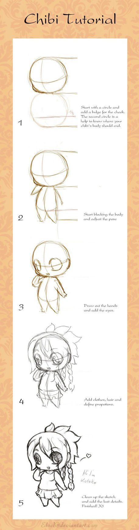 How to draw your own kawaii chibi art. =}