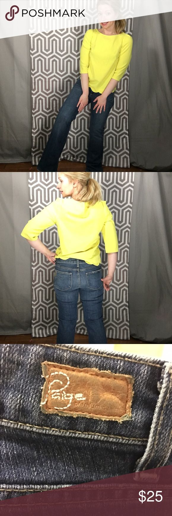 Paige Hollywood Hills Bootcut Paige Denim the Hollywood Hills addition. These are very sleek. While I know nothing of the actual holiday hills, I did once attend a daytime dance party and Whitney from the Hills was there (she was on the Hills, right?) Inseam 31. Paige Jeans Jeans Boot Cut