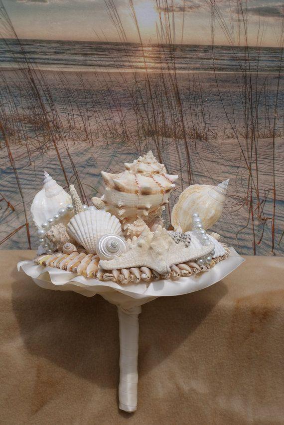 Ramo de novia concha playa ramo