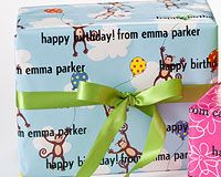 Personalized Gift Wrap-Monkey See Monkey Do