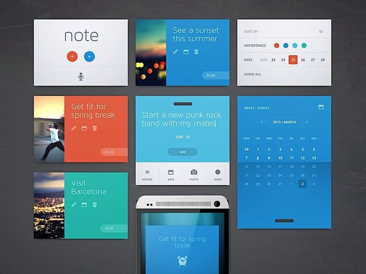 Charming Creative UI Design By Cosmin Capitanu