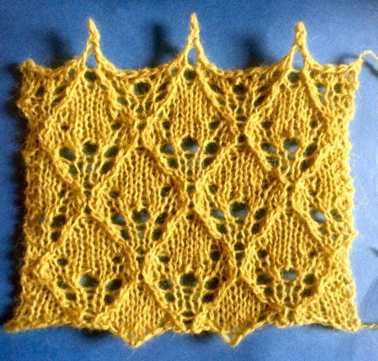 2016: a free lace knitting stitch pattern