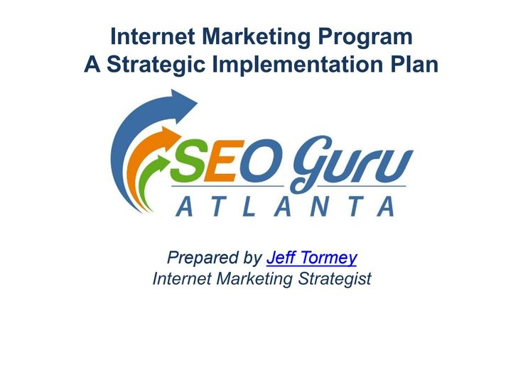 Internet Marketing Program A Strategic Implementation Plan