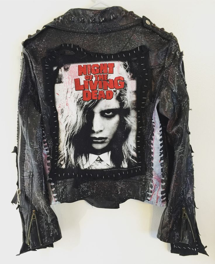 Night Of The Living Dead jacket from Chad Cherry Clothing. Zombie jacket. Horror jacket.