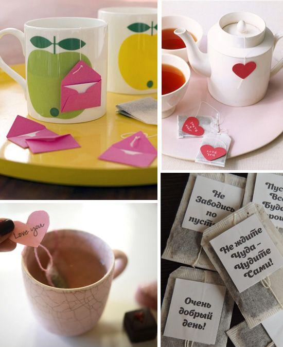 подарок любимой девушке, подарок парню, подарок мужу - чай с надписями, чай с посланиями