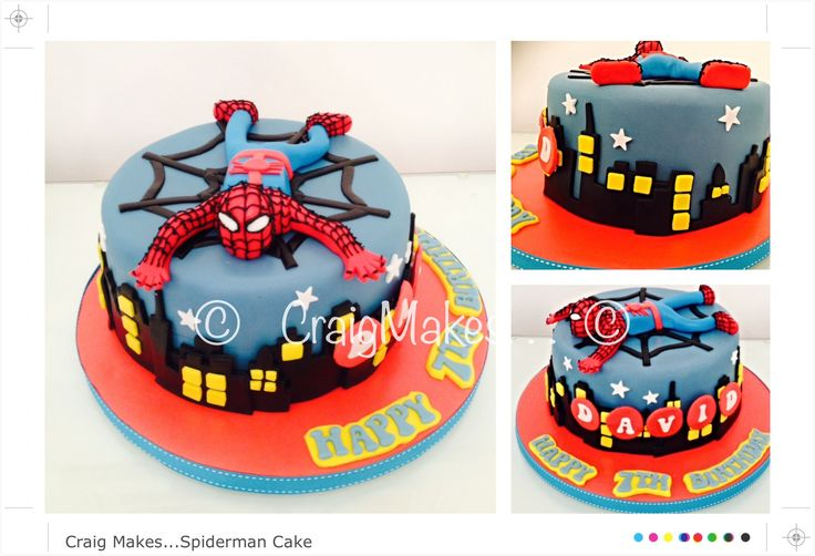 A Spider-man themed cake