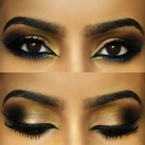 arabic eye makeup 2014 Brown