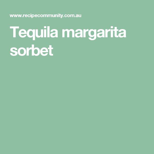 Tequila margarita sorbet