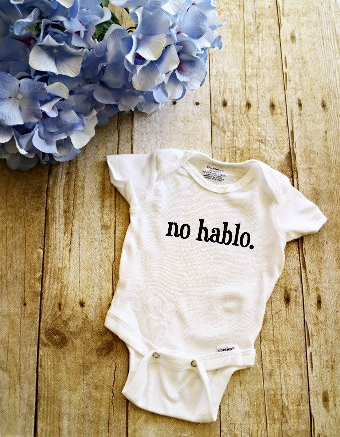 No hablo. Onesie // Spanish Onesie  // Baby Onesie // Funny Baby shirt // Funny Baby Onesie // by EmieLouBoutique on Etsy