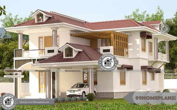South Indian Style Home Design With Typical Decorative Plan Of Houses House Design Small House Elevation Design Architecture House