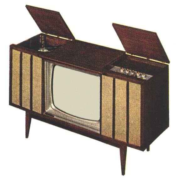 1960s tv set television vintage