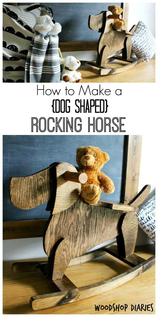 How to build a dog shaped DIY rocking horse for a child--super cute diy kids toy and easy to follow tutorial to make your own!