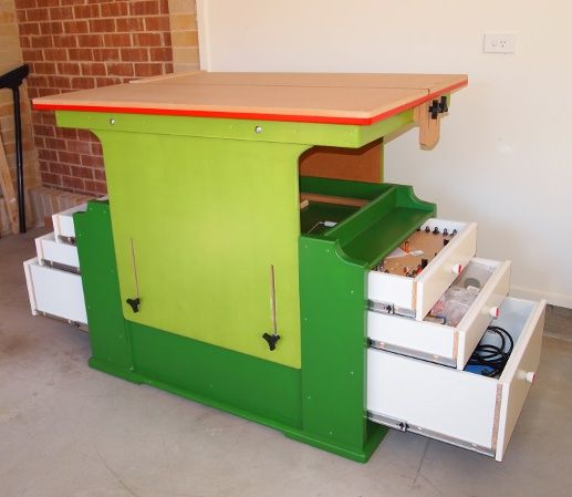 Bio Enaml Lacquer used on height adjustable work bench by Peter Natoli