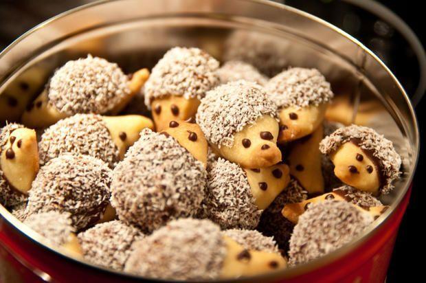 Weihnachtsgebäck: Igel-Kekse