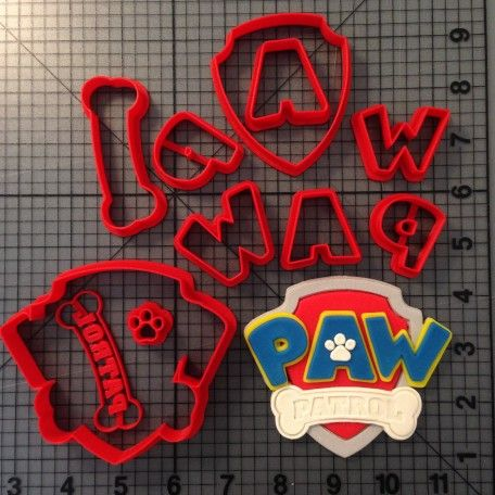 Paw Patrol Cookie Cutters And Logos On Pinterest