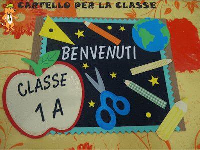 A Scuola con Poldo: Cartello Benvenuti per l'aula
