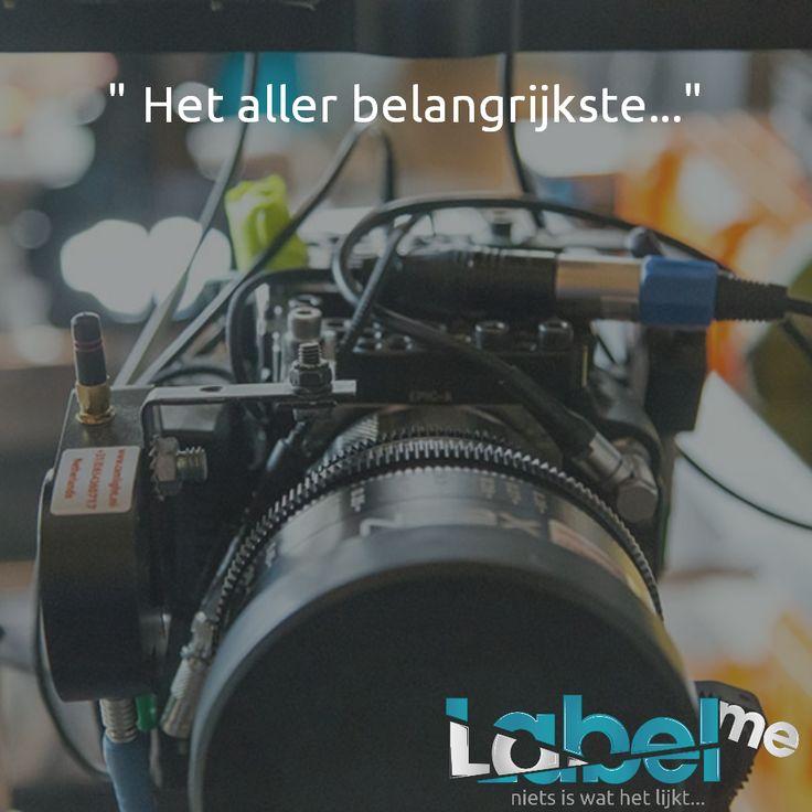 Wat moet je zonder camera..? #LabelMeFilm #making_of MEER_WETEN? #LMF