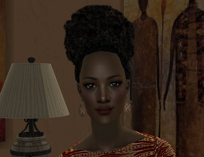 Malaika of Zambia is one of our Sim Beauties from Around the World by ilikefishfood. #Sims2 #downloads