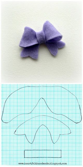 A FREE Template at last for these cute felt bows! #template