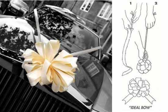 Ivory Premium Wedding Car Decoration Kit Image