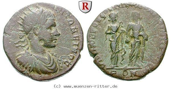 RITTER Moesia Inferior, Nikopolis am Istros, Elagabal, Asklepios, Hygieia #coins