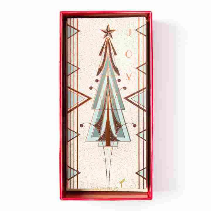 Afbeeldingsresultaat Voor Art Nouveau Christmas Tree Boxed Christmas Cards Boxed Holiday Cards Holiday Card Set
