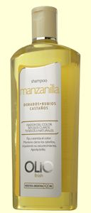 Sahmpoo Manzanilla Olio! industria Argentina, es el que estoy usando ahora, me gustó harto! deja el pelo manejable muy brillante! resalta los reflejos naturales del cabello, lo encontré en Intersalón a $3.450.- tb hay acondicionador de la misma linea, lo recomiendo :)