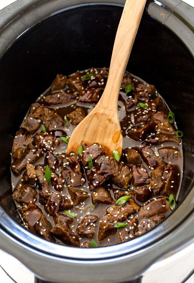 Slow Cooker Korean Beef Chef Savvy Recipe Slow Cooker Korean Beef Diced Beef Recipes Korean Beef Recipes