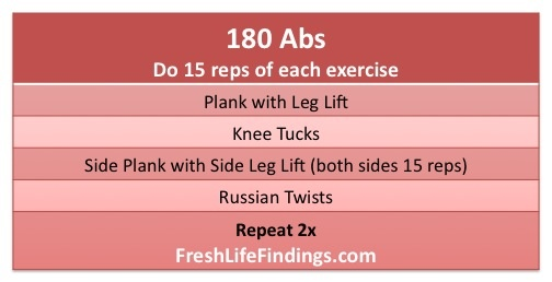 180 Abs - reps