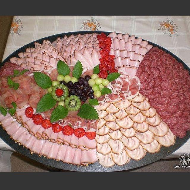 Deli meats party platter.