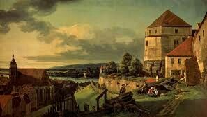 View of Pirna from the Fortress of Sonnenstein; olio su tela; 1753-1755; Bellotto; Pushkin Museum.