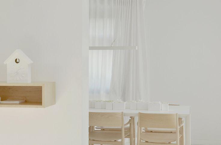 PULVA, minimalistic, interior design, minimal, modern, materials, home, homestyle, house, dom, light, details, texture, white, pure, porro, dining room
