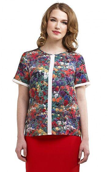 Летние блузки для полных женщин (фото): из шифона, шелка, вискозы, льна и трикотажные