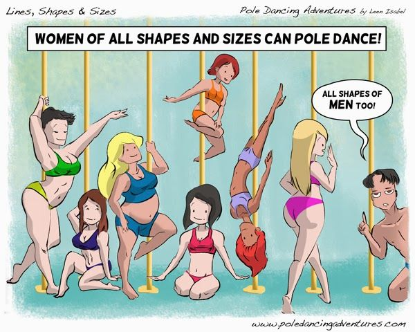 Pole Dancing Adventures (PDA) - The Original Pole Dance Webcomic Series: Lines, Shapes and Sizes. TRUE!!!