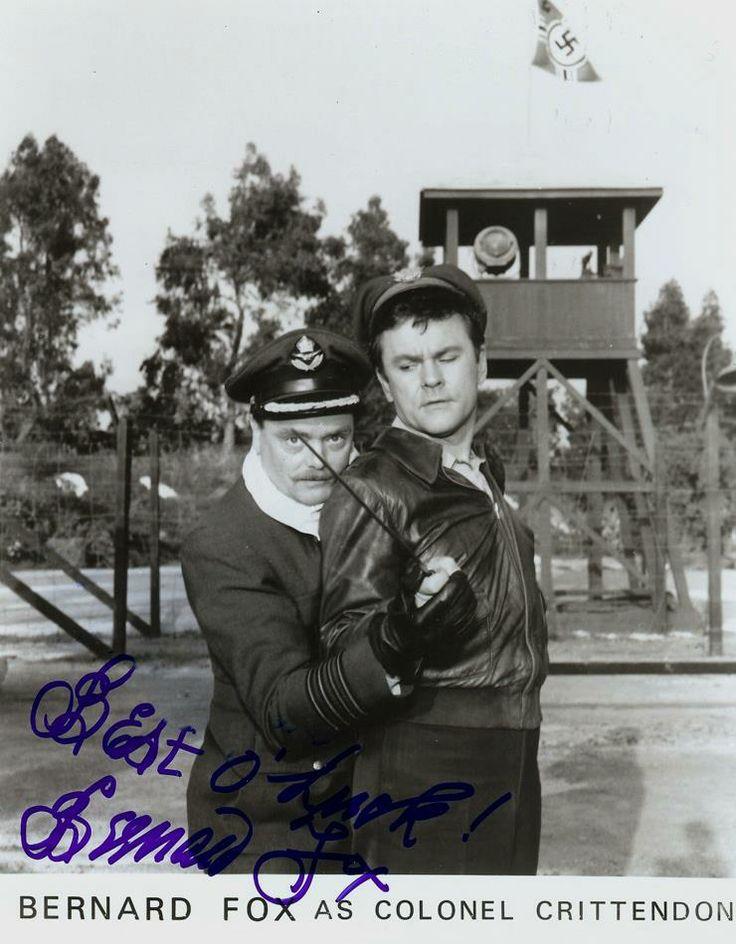 Hogan's Heroes: Bernard Fox and Bob Crane Photograph Autographed by Bernard Fox