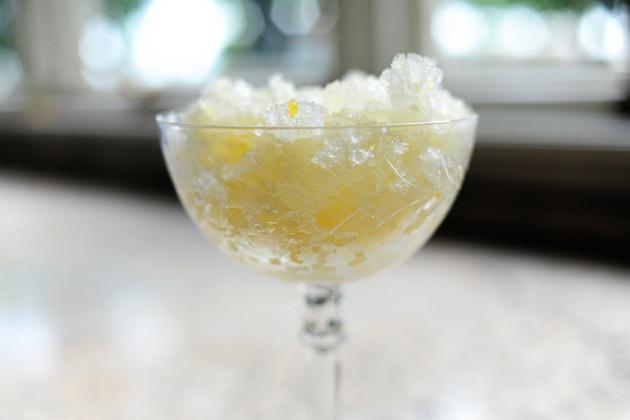 lemon granita from Pioneer Woman (also, recipe for grape granita).