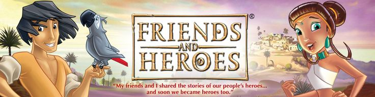 Church Bible Lessons | Children's Bible Stories | Friends and Heroes | USA and Canada Website 39 video/lesson $450