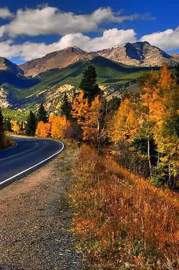 The Roads of Autumnby - Rocky Mountain National Park