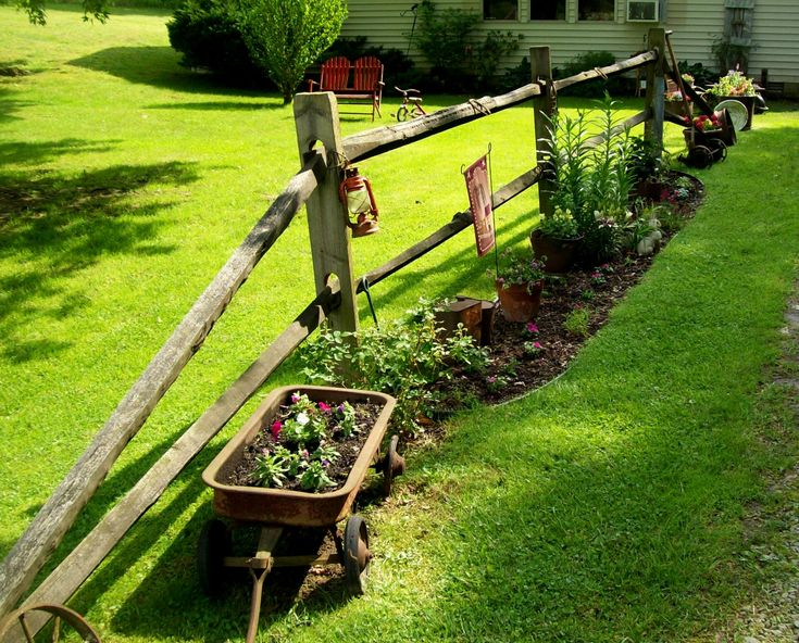 The Split Rail Fence Along My Driveway Junk And Flowers