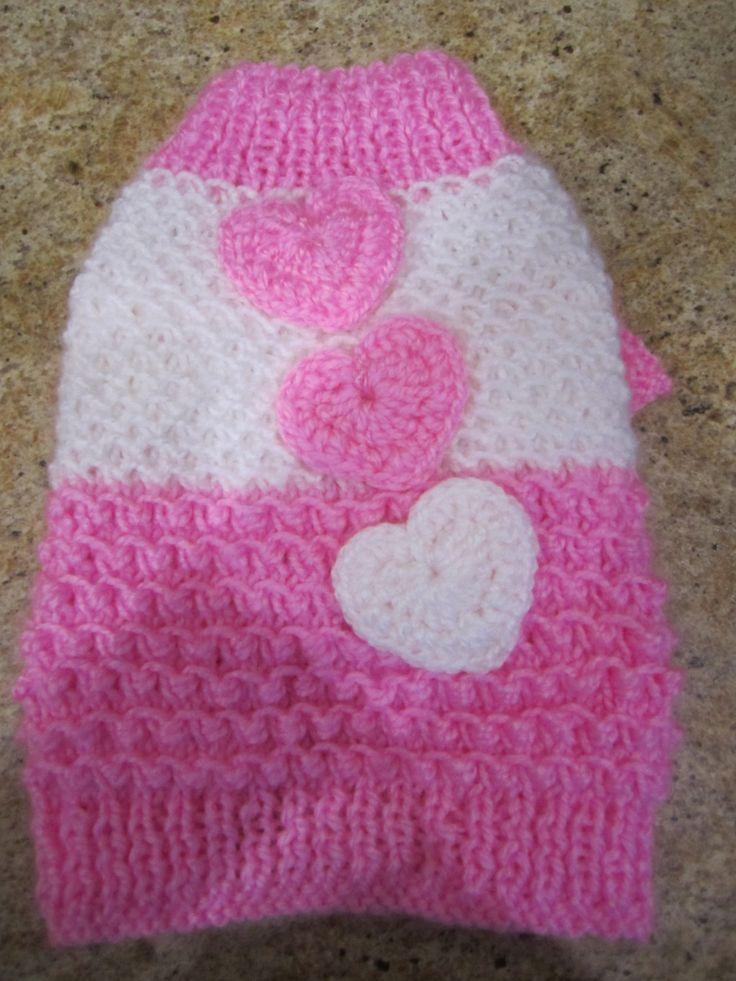 Cane maglione rosa con i cuori di armadio di NinasCoutureCloset