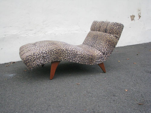 mid century modern chaise lounge chair