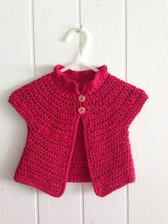 A simple crochet baby sweater written for folks who can not read crochet patterns! This is as easy as it gets! Written simply, worked in almost all half double crochet, with diagrams included.
