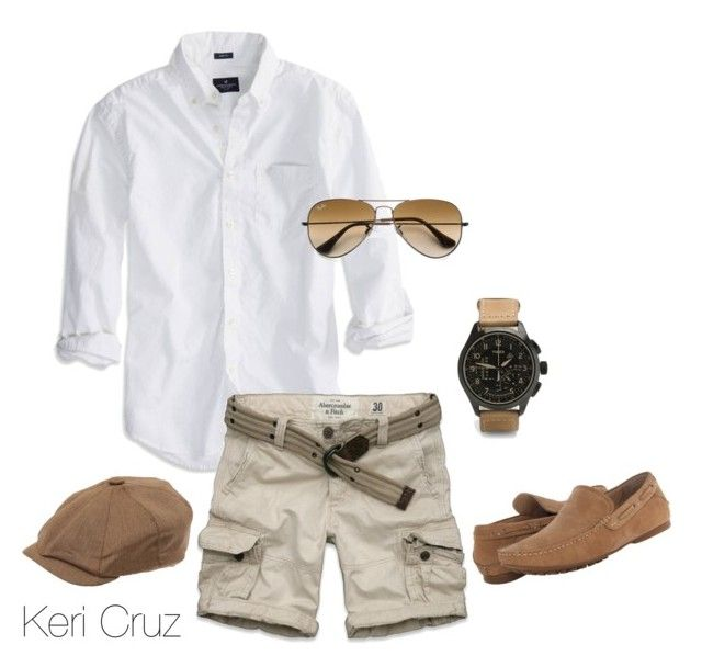 """""""Men's Summer Fashion"""" by keri-cruz ❤ liked on Polyvore featuring American Eagle Outfitters, Ray-Ban, Christys', Steve Madden, Timex and Abercrombie & Fitch"""