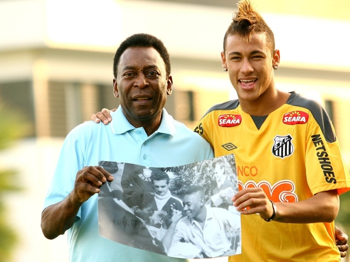 The Legend & The Wunderkind... Pele & Neymar